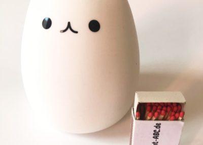 """NAVARIS LED Silikon Nachtlicht """"Smile Cat"""" in Form einer stilisierten Katze"""
